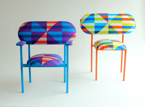 Awesome Rescued Chair: Brightly Colored