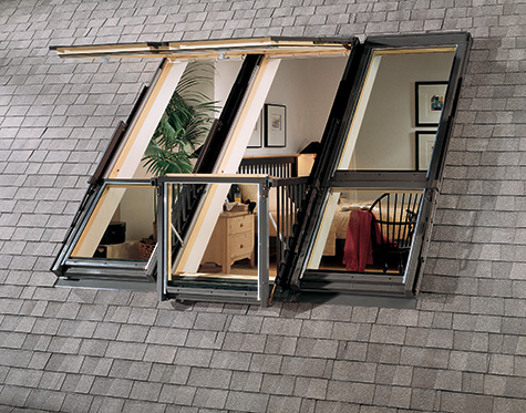 Velux roof balcony windows lofty terrace beautiful for Balcony window