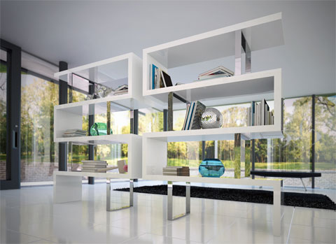 room divider bookcase pearl - Pearl Bookcase: A Jewel For Any Open Space