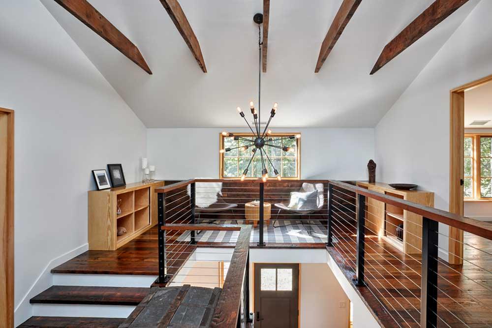 rustic modern farmhouse mezzanine design foz - Fallkill Farm
