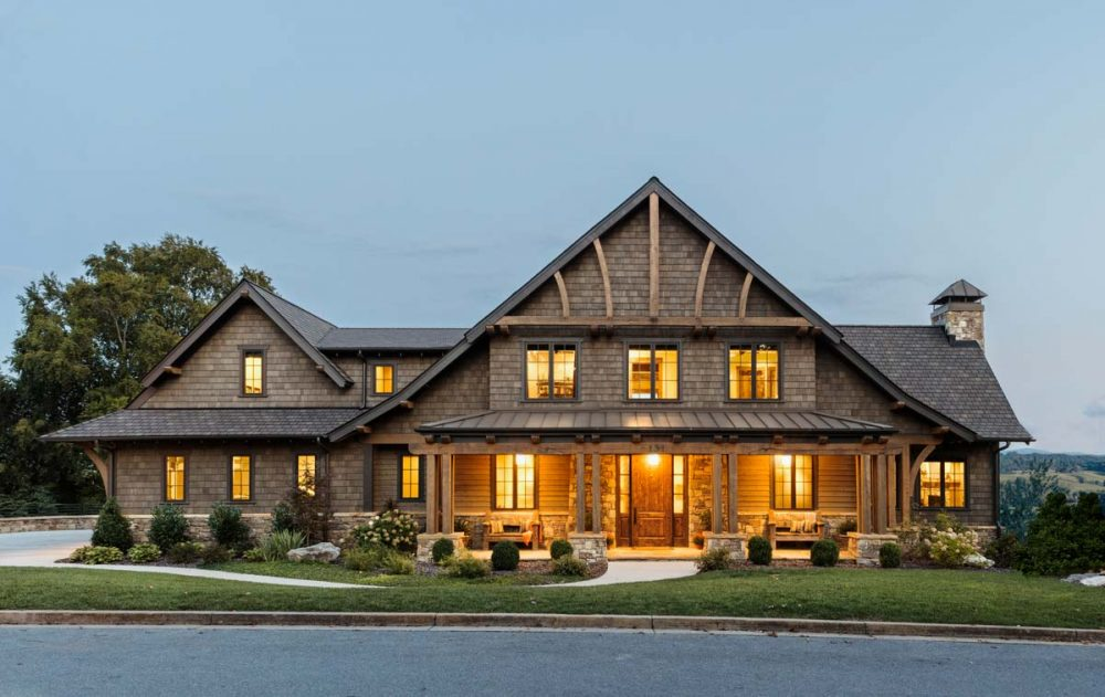 rustic mountain home design 1000x631 - East Tennessee Residence