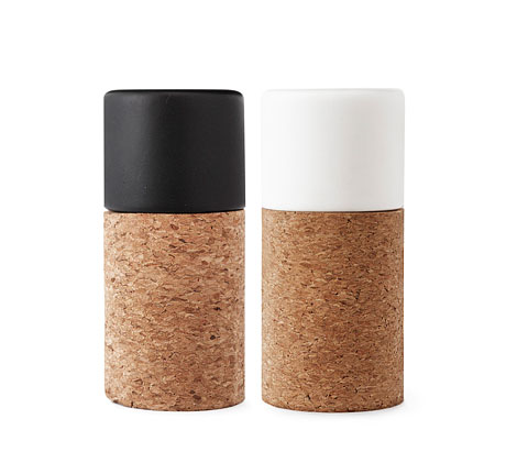 salt and pepper set 58 - 58° N Salt and Pepper Set: Stylishly Corky