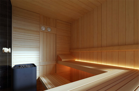 loyly sauna hot room with a view garden patio. Black Bedroom Furniture Sets. Home Design Ideas