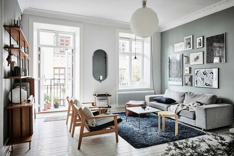 scandinavian apartment design 800x533 - Century-Old Apartment With Style