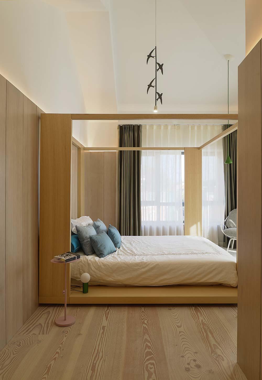 scandinavian asian bedroom design - Xiang Jiang House in Beijing
