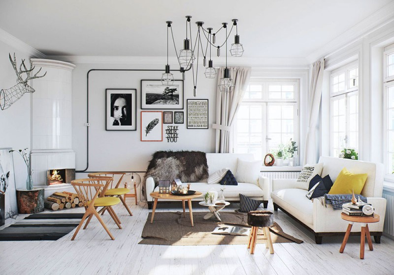 Cozy Scandinavian Apartment Design