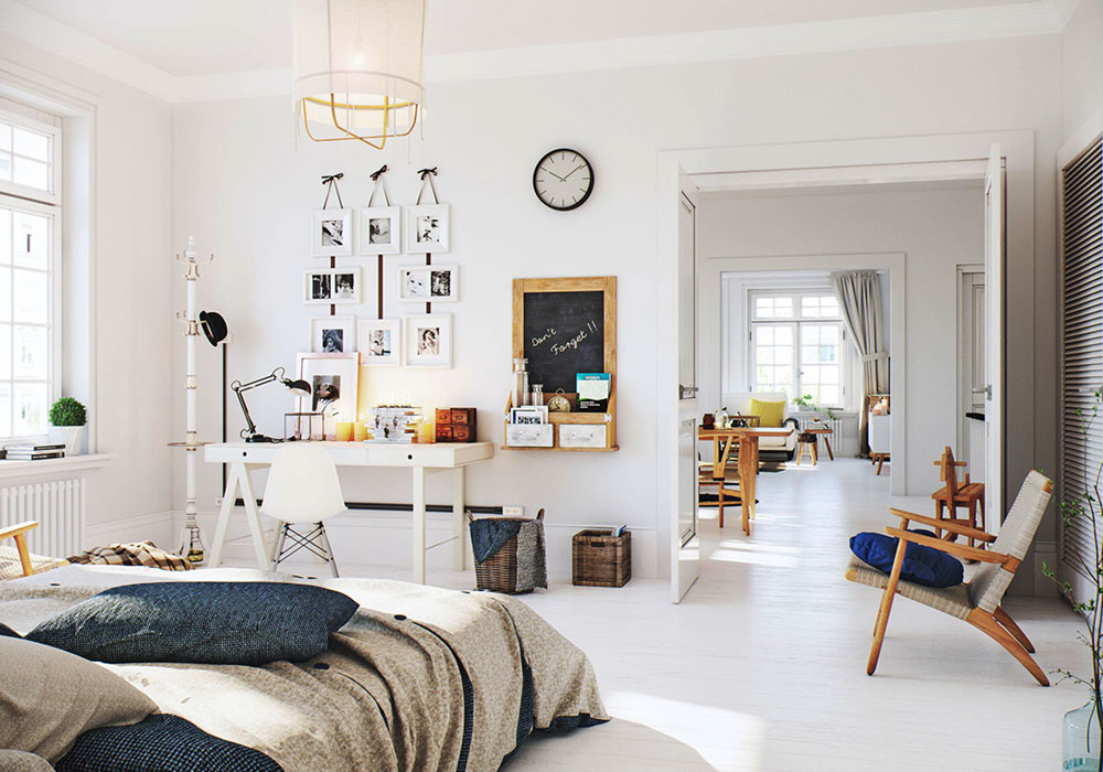 Simple white scandinavian apartment