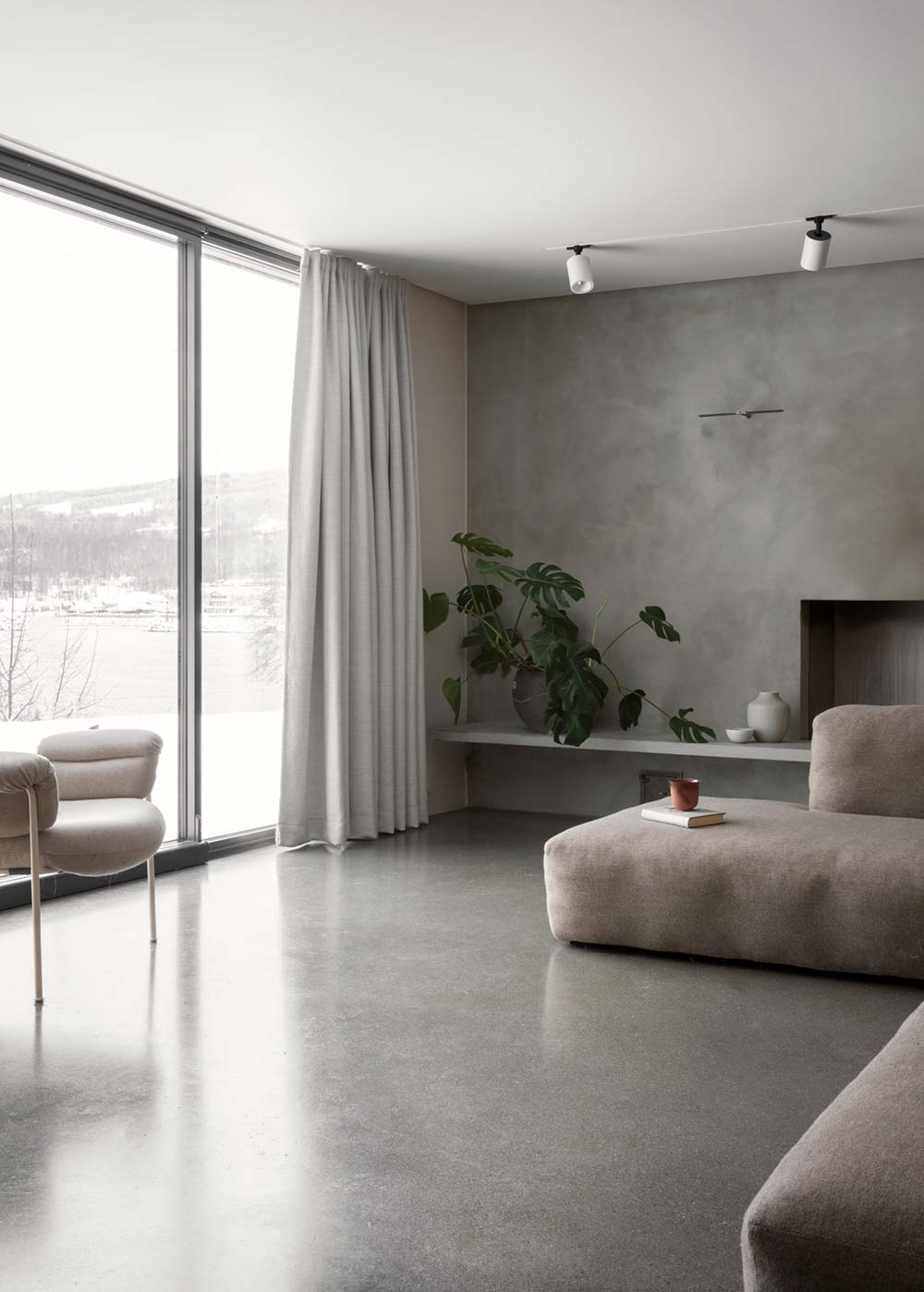 scandinavian interiors living - The Gjøvik House