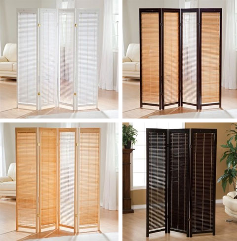 Room divider screens casual cottage for Screens and room dividers