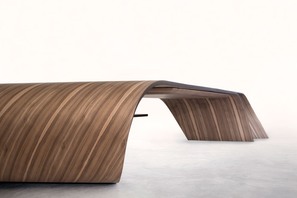 Mizu sculptural table design drawer