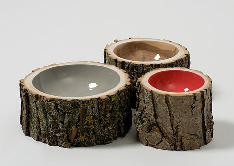 serving bowls log3 - Log Bowls: Naturally Vibrant