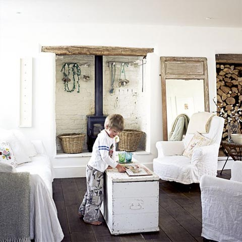 Beautiful Interiors | Shabby Chic, All White, Country Style - Say ...