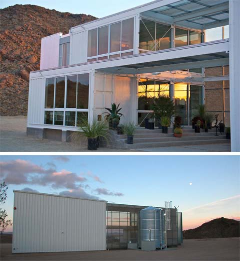 shipping container home et11 - Shipping Container Home & Studio: Desert Green
