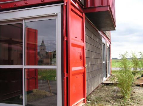 shipping container home lille6 - Shipping Container Home: Red House Lille