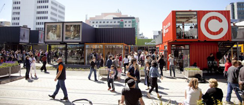 Re:START village: Shipping Container Shopping Mall