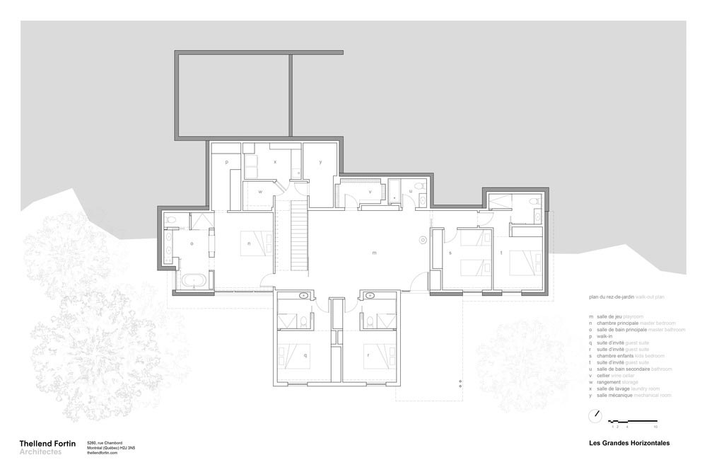 slope house design plan 2 - Long Horizontals