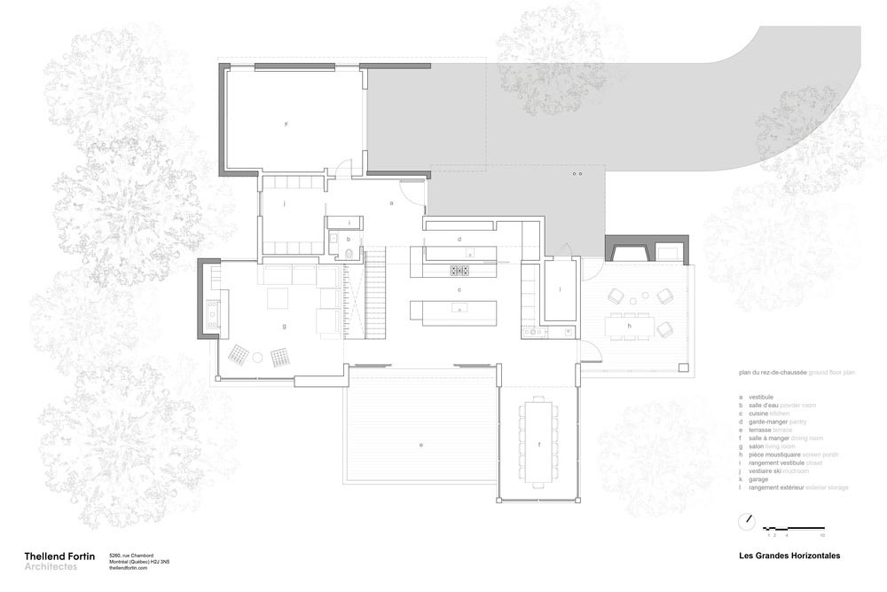 slope house design plan - Long Horizontals