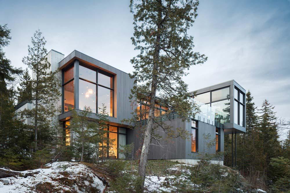 slope house design side - Long Horizontals