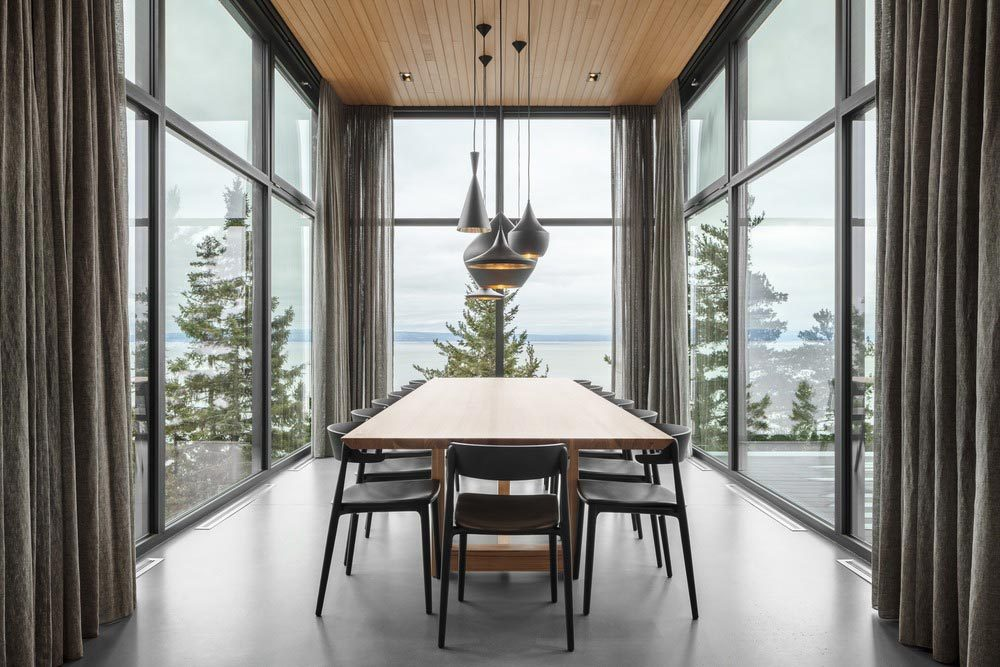 slope house dining room 1000x667 - Long Horizontals