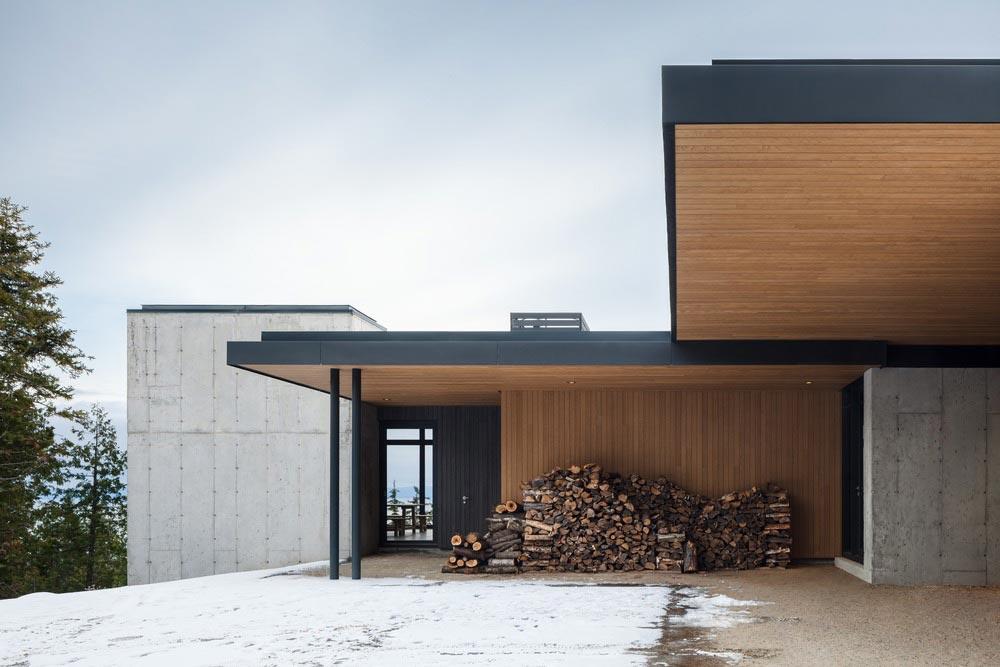 slope house entrance design - Long Horizontals