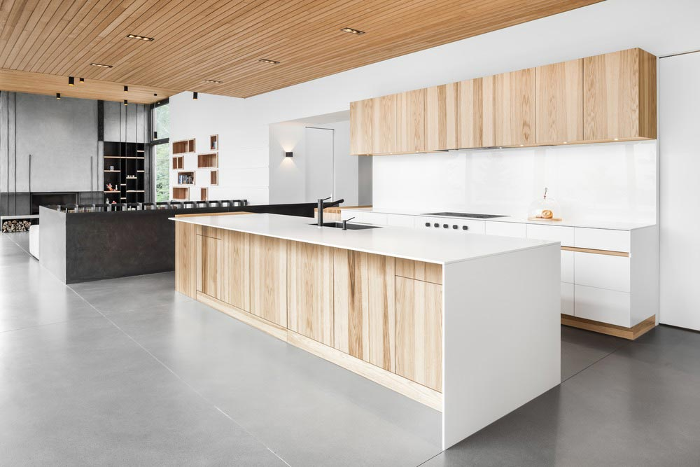 slope house kitchen design - Long Horizontals