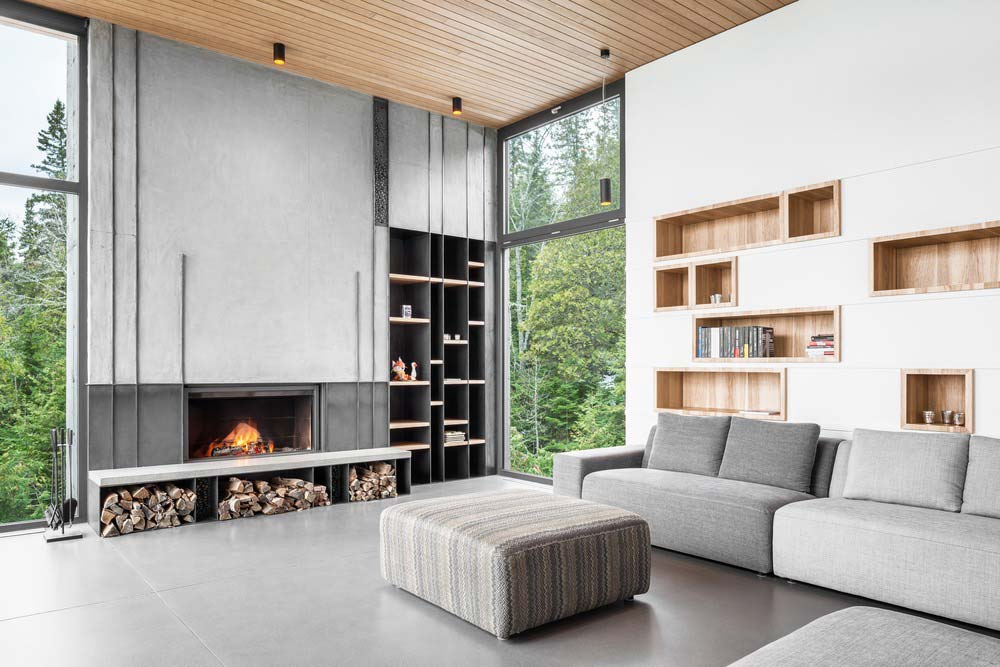 slope house living design - Long Horizontals