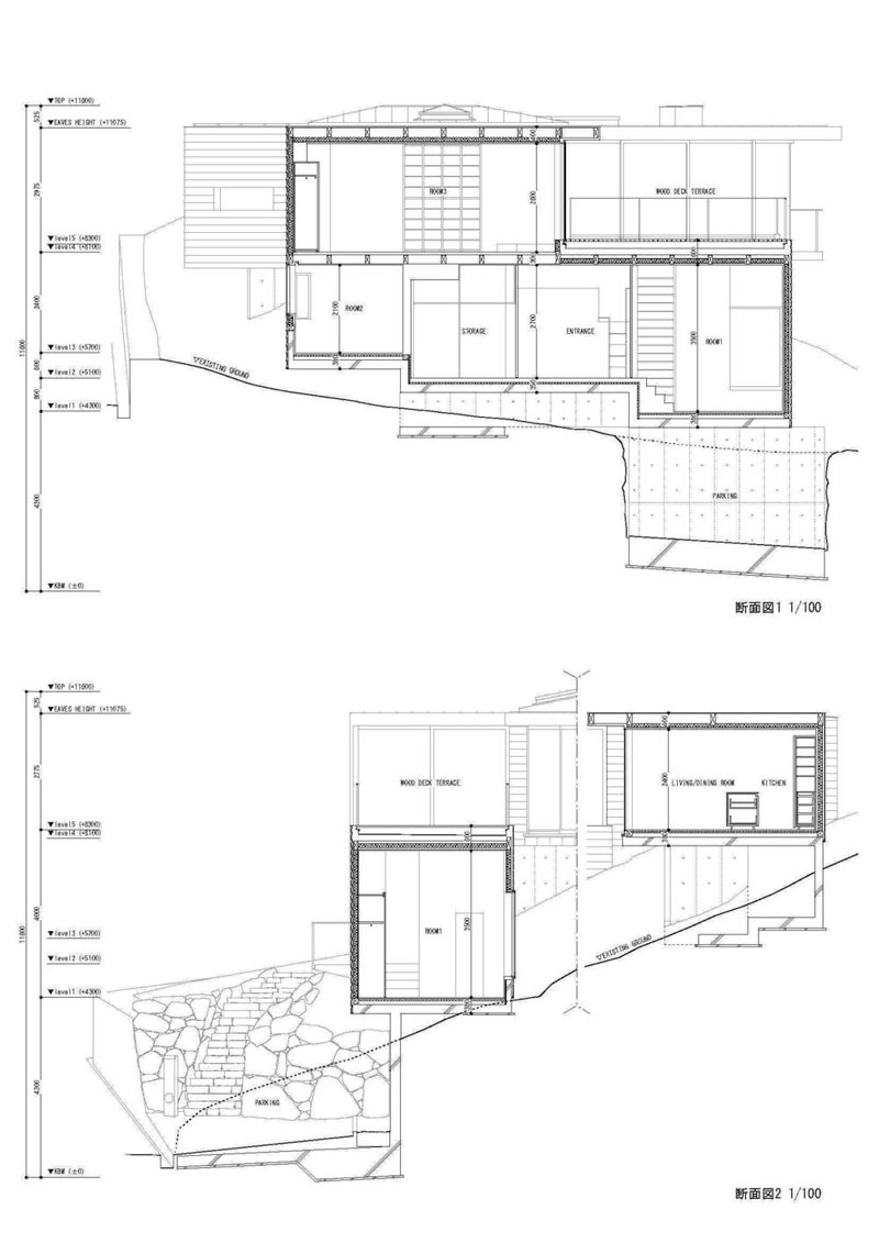 House design sloping site - Home Plans On Steep Slopes Slope House Plans Site