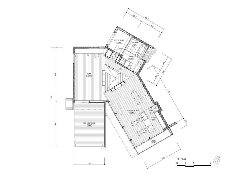 Krampon japanese architecture small houses for Slope home plans