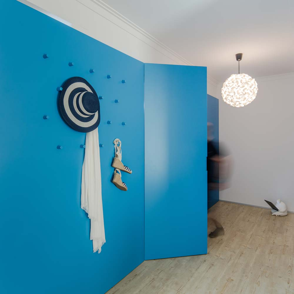 Small apartment blue interiors