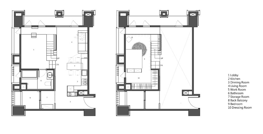 small apartment design plan kc - Apartment X