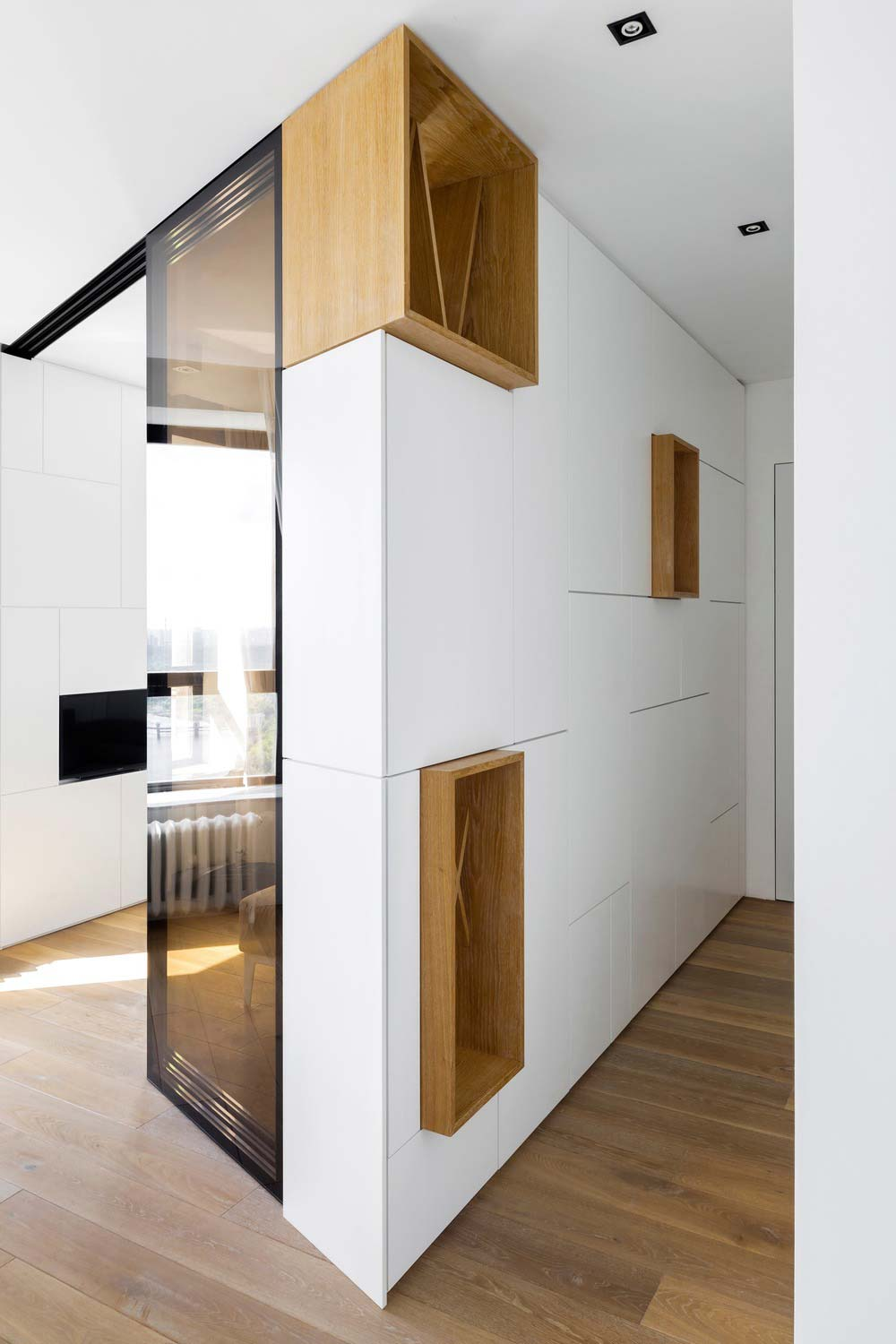 Small Apartment Design Full Of Hidden Storage In Moscow