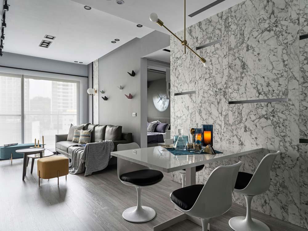 Italian Style Interior Design In A Small Apartment In Taiwan