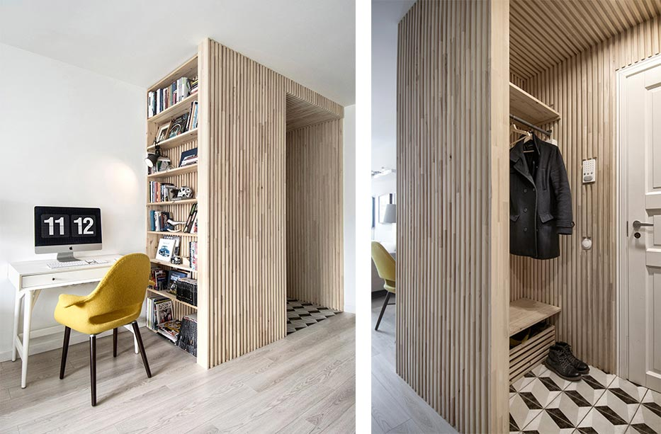 small apartment entry design int2 - Tiny Scandinavian inspired Interiors
