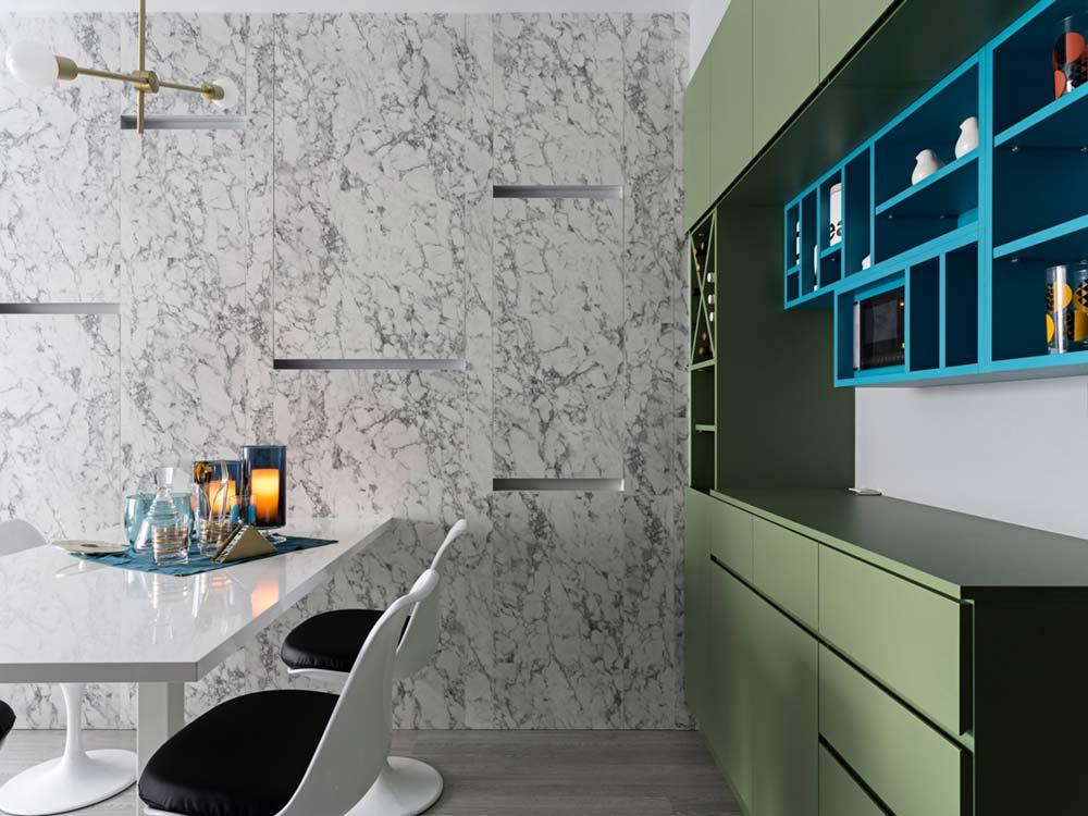 small apartment green cabinet sc - Grotta Azzurra