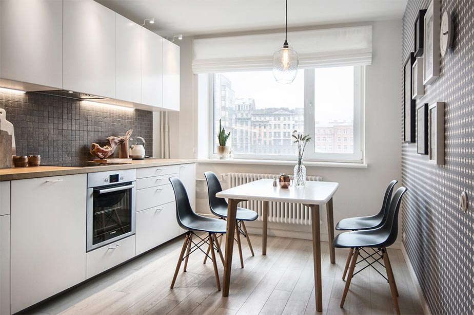 small apartment kitchen design int2 - Tiny Scandinavian inspired Interiors