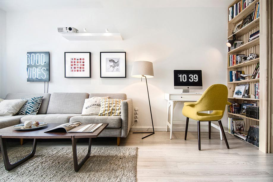 small apartment living room design int2 - Tiny Scandinavian inspired Interiors