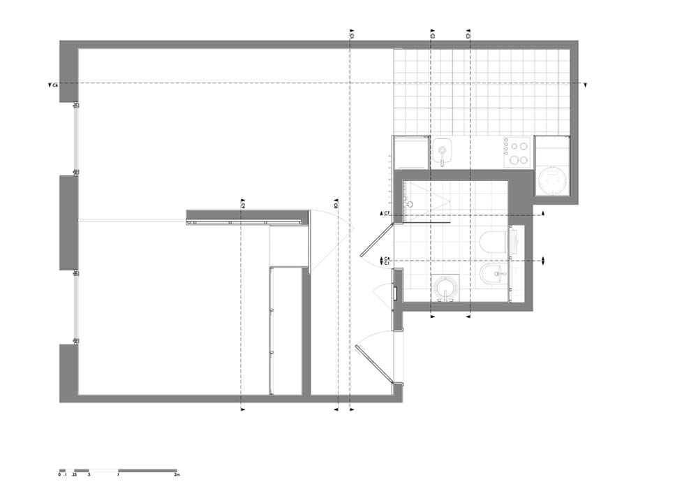 Small apartment after plan