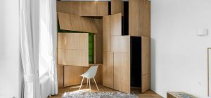 small apartment storage design md 300x140 - Small Apartment in Moscow