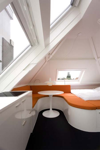 Tiny Home Designs: Maff Apartment: Amazing Little Attic Space