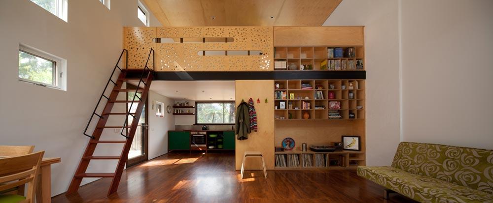 Small holiday home loft bedroom design