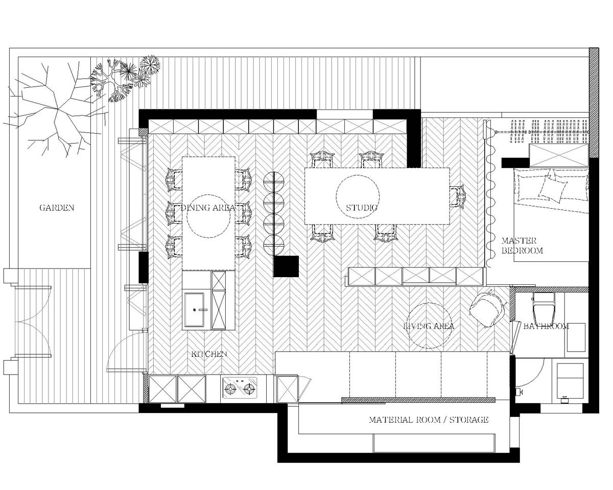 Ganna home and studio small spaces for Home studio plans