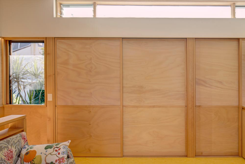 small house design sliding doors pm - Laneway Studio