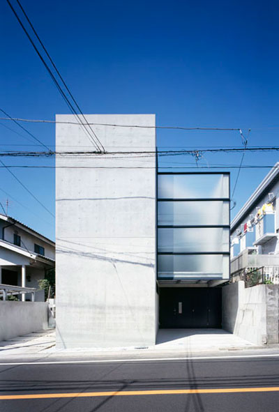 Knot house like a drawer pulled out from a box japanese architecture small houses for Small modern architecture homes