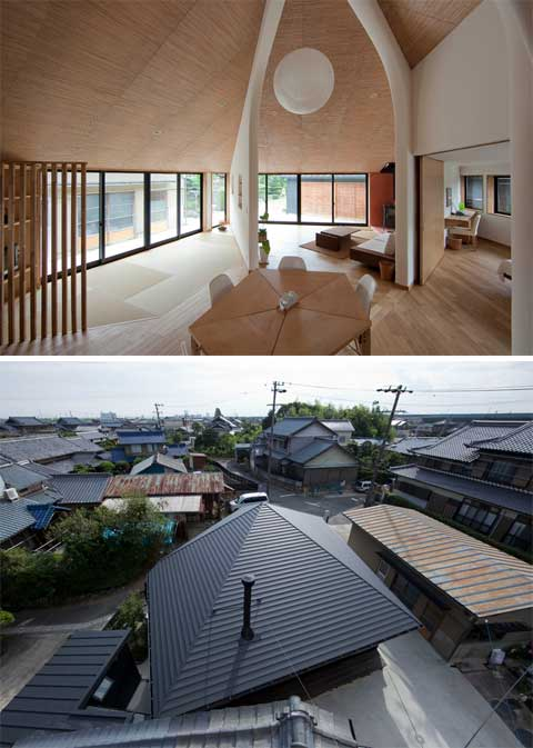 Pentagonal House Geometrically Organic Japanese