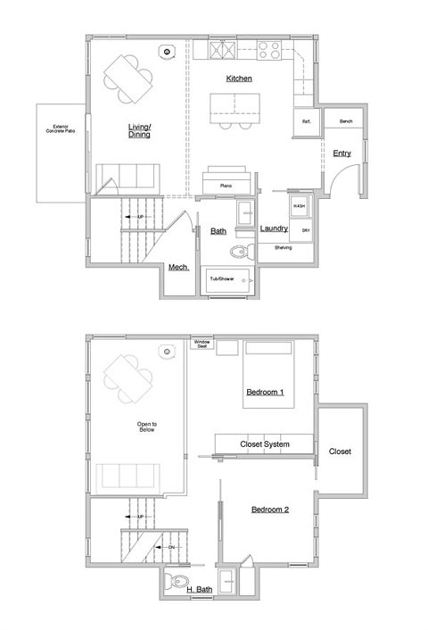 Cube house plans design decoration for Cube house design layout plan