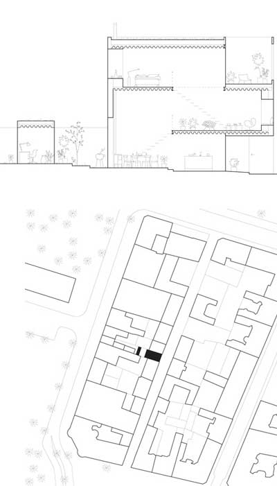 small house plan landskrona - Townhouse in Landskrona: A Small White Box