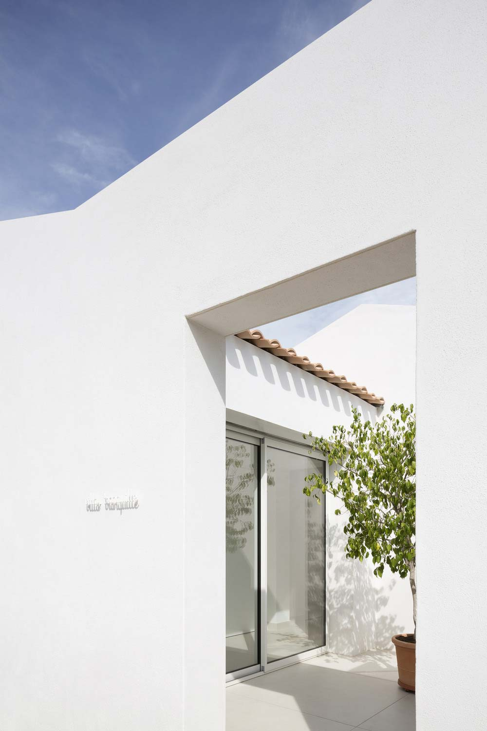 Small house white entrance