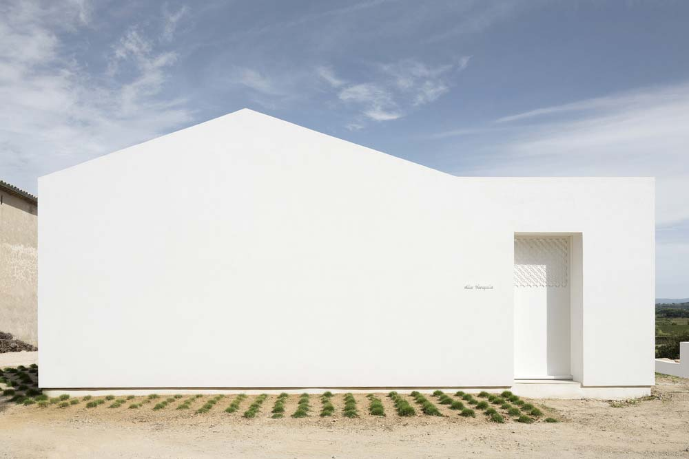 Small house white facade