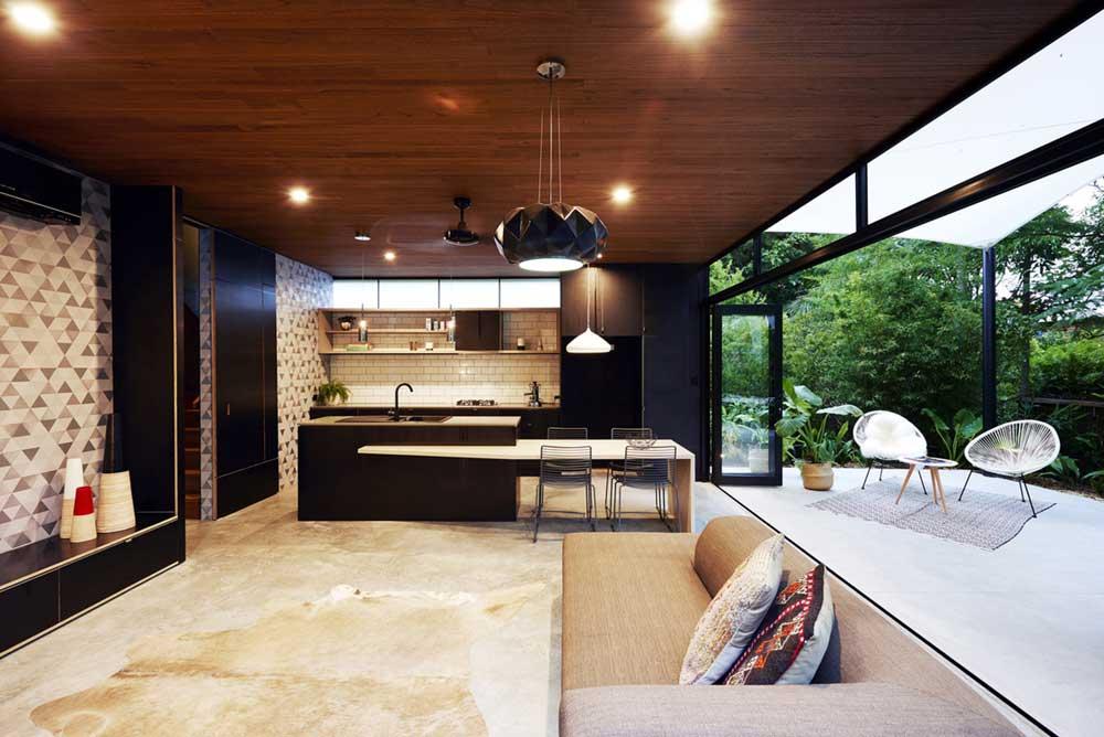 small infill house kitchen design rd - Woolloongabba gardenhouse