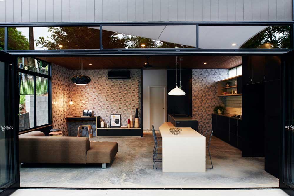 small infill house open plan design rd - 36+ Small Urban House Design  Gif